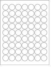 "1"" Diameter 63UP Clear Matte Inkjet Circle Labels"