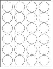 "1.625"" Diameter 24UP Clear Matte Circle Laser Labels"