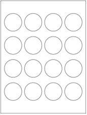 "1.75"" Diameter 16UP Clear Matte Circle Laser Labels"
