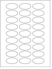 """2"""" x 1"""" 27UP Premium Bright White Laser & Inkjet Oval Labels with Removable Adhesive"""