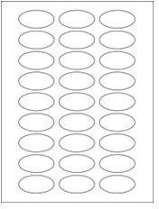 "2"" x 1"" 27UP Clear Matte Oval Laser Labels"