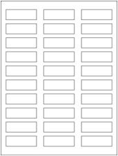 """2.25"""" x 0.75"""" 30UP Premium Bright White Laser/Inkjet Labels with Removable Adhesive"""