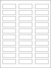 "2.25"" x 0.75"" 30UP Clear Matte Inkjet Labels"