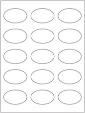"""2.375"""" x 1.4375"""" 15UP All Temp Freezer Oval Labels"""