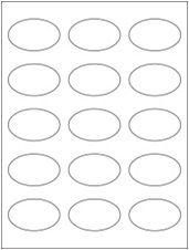 "2.375"" x 1.4375"" 15UP Clear Matte Inkjet Oval Labels"