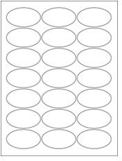 """2.5"""" x 1.375"""" 21UP Opaque Blockout Oval Labels"""
