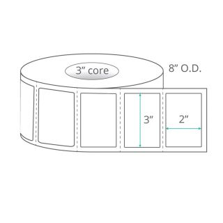 """3"""" x 2"""" Direct Thermal Labels - Perforated"""