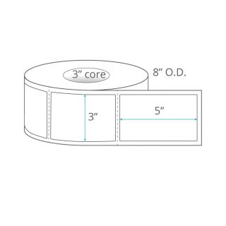 """3"""" x 5"""" Direct Thermal Labels - Perforated"""