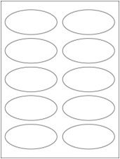 """3.75"""" x 1.75"""" 10UP All Temp Freezer Oval Labels"""