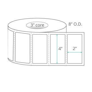 """4"""" x 2"""" Direct Thermal Labels - Perforated"""