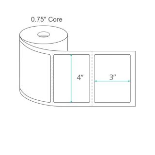 """4"""" x 3"""" Direct Thermal Labels - Perforated on 0.75"""" Core"""