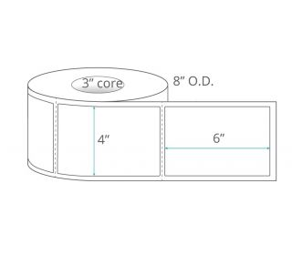 4x6 Polypropylene Thermal Transfer Labels