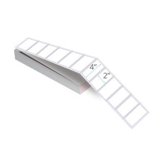 """4"""" x 2"""" Thermal Transfer Labels - Fanfolded"""