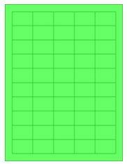 "FG150100 - 1.5"" x 1"" 50UP Fluorescent Green Laser Labels"