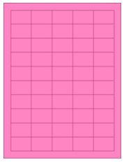 "1.5"" x 1"" 50UP Fluorescent Pink Laser Labels"
