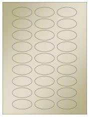 """2"""" x 1"""" 27UP Gold Foil Oval Laser Labels"""