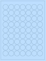 "1"" Diameter 63UP Pastel Blue Circle Labels"