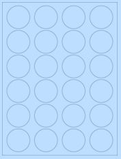 "1.625"" Diameter 24UP Pastel Blue Circle Labels"