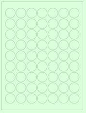 "1"" Diameter 63UP Pastel Green Circle Labels"