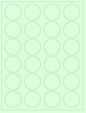 "1.625"" Diameter 24UP Pastel Green Circle Labels"