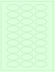 """2"""" x 1"""" 27UP Pastel Green Oval Labels"""