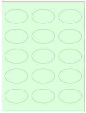 """2.375"""" x 1.4375"""" 15UP Pastel Green Oval Labels"""