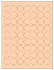 """1"""" Diameter 63UP Pastel Orange Circle Labels"""