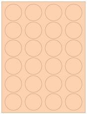 """1.625"""" Diameter 24UP Pastel Orange Circle Labels"""