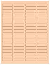 """1.75"""" x 0.5"""" 80UP Pastel Orange Laser Labels"""