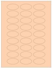 "2"" x 1"" 27UP Pastel Orange Oval Labels"