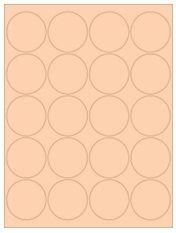 """2"""" Diameter 20UP Pastel Orange Circle Labels"""