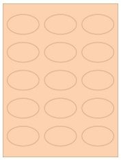 "2.375"" x 1.4375"" 15UP Pastel Orange Oval Labels"