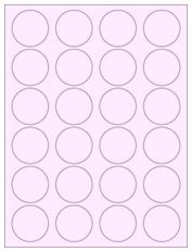 """1.625"""" Diameter 24UP Pastel Pink Circle Labels"""