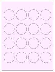 """1.75"""" Diameter 16UP Pastel Pink Circle Labels"""