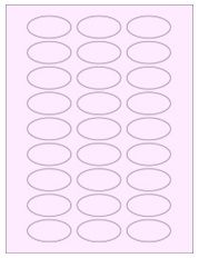 """2"""" x 1"""" 27UP Pastel Pink Oval Labels"""