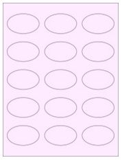 """2.375"""" x 1.4375"""" 15UP Pastel Pink Oval Labels"""