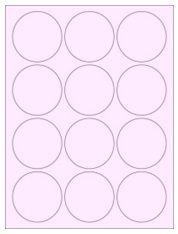 """2.5"""" Diameter 12UP Pastel Pink Circle Labels"""