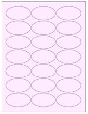 """2.5"""" x 1.375"""" 21UP Pastel Pink Oval Labels"""