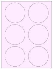 """3.33"""" Diameter 6UP Pastel Pink Circle Labels"""