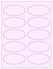 """3.75"""" x 1.75"""" 10UP Pastel Pink Oval Labels"""