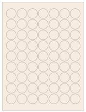 """1"""" Diameter 63UP Pastel Tan Circle Labels"""