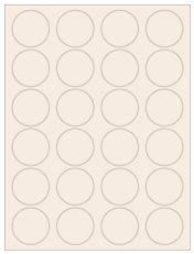 """1.625"""" Diameter 24UP Pastel Tan Circle Labels"""