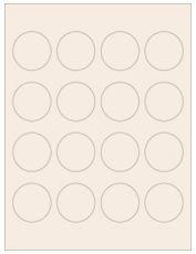 """1.75"""" Diameter 16UP Pastel Tan Circle Labels"""