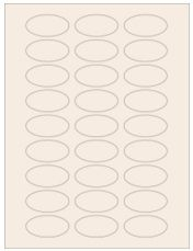 """2"""" x 1"""" 27UP Pastel Tan Oval Labels"""