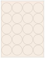 """2"""" Diameter 20UP Pastel Tan Circle Labels"""