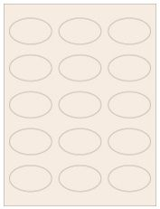 """2.375"""" x 1.4375"""" 15UP Pastel Tan Oval Labels"""