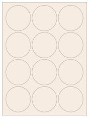 """2.5"""" Diameter 12UP Pastel Tan Circle Labels"""