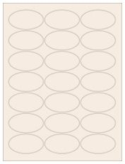 """2.5"""" x 1.375"""" 21UP Pastel Tan Oval Labels"""