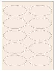 """3.75"""" x 1.75"""" 10UP Pastel Tan Oval Labels"""