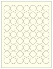 "1"" Diameter 63UP Pastel Yellow Circle Labels"